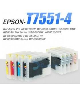 REFILABILE XXL EPSON T7551-T7554